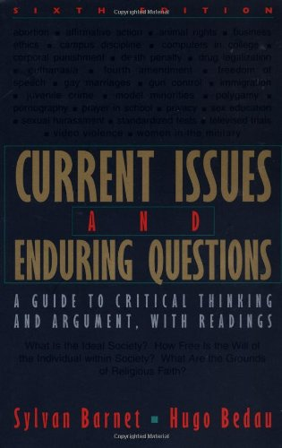 9780312390136: Current Issues and Enduring Questions: A Guide to Critical Thinking and Argument with Readings
