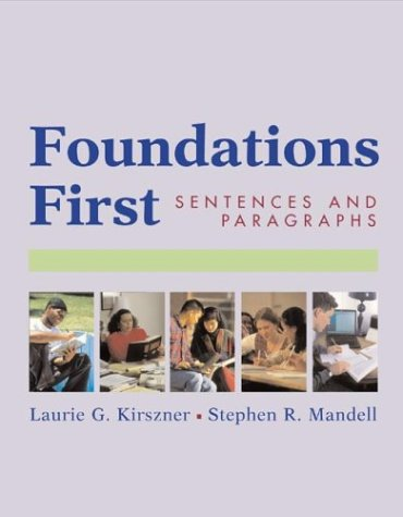 9780312390778: Foundations First: Sentences and Paragraphs