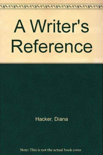 9780312392819: A Writer's Reference
