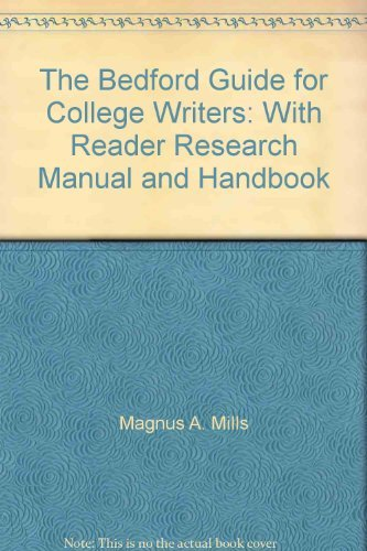 9780312396329: The Bedford Guide for College Writers: With Reader Research Manual and Handbook