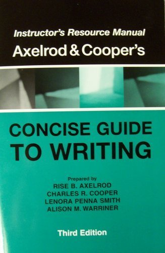 9780312396770 insructor s resource manual for axelrod cooper s rh abebooks com Procedure Manual Instructor Manual Template