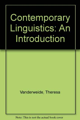 9780312397104: Contemporary Linguistics: An Introduction (Study Guide)