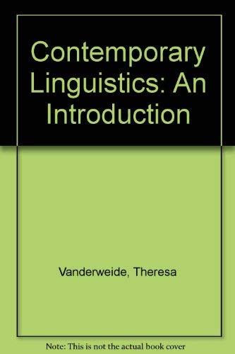 9780312397104: Contemporary Linguistics: An Introduction