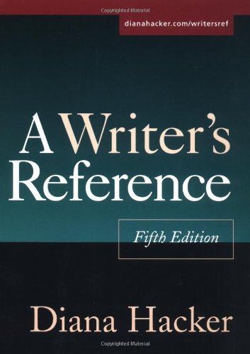 A Writer's Reference, Fifth Edition: Diana Hacker