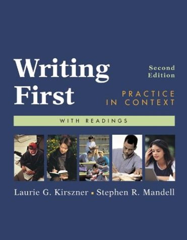 9780312398026: Writing First: Practice in Context with Readings