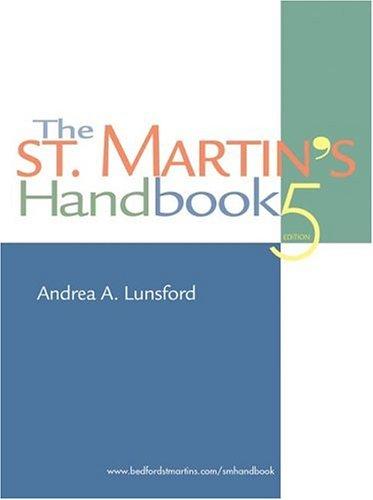 9780312398286: The St. Martin's Handbook