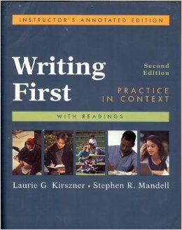 9780312399740: Writing First: Practice in Context