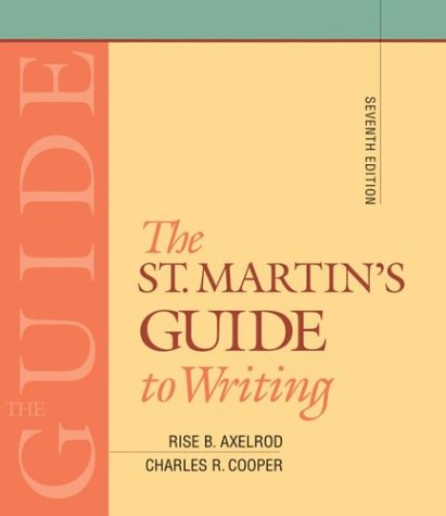 9780312400538: The St. Martin's Guide to Writing: Short