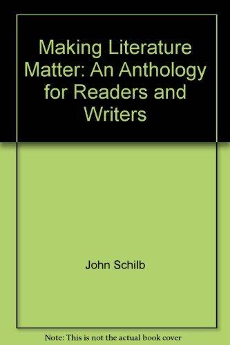 Making Literature Matter: John Clifford; John
