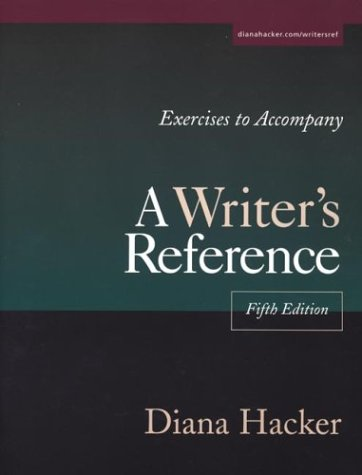 9780312402402: Exercises to Accompany A Writer's Reference: Large Trim Size