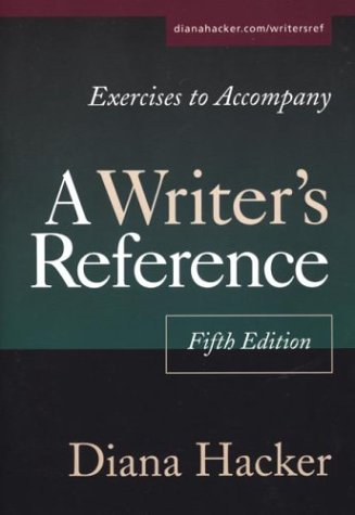 9780312402433: Exercises to Accompany A Writer's Reference: Compact Trim Size