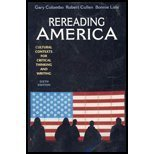 Rereading America: Cultural Contexts for Critical Thinking and Writing: Bonnie Lisle, Robert Cullen...
