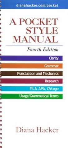9780312406844: A Pocket Style Manual