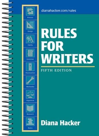 9780312406851: Rules for Writers, 5th Edition