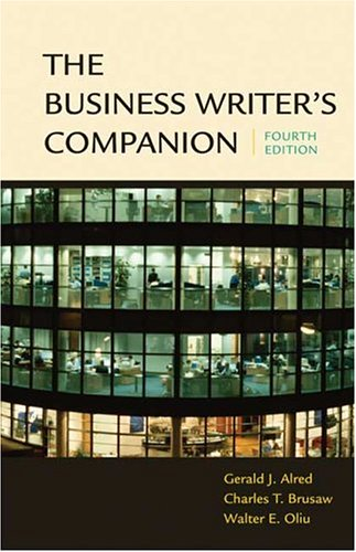 9780312413255: The Business Writer's Companion
