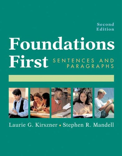 9780312413361: Foundations First: Sentences And Paragraphs