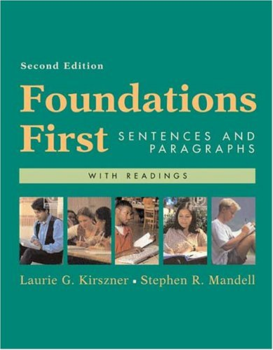 9780312413378: Foundations First with Readings: Sentences and Paragraphs