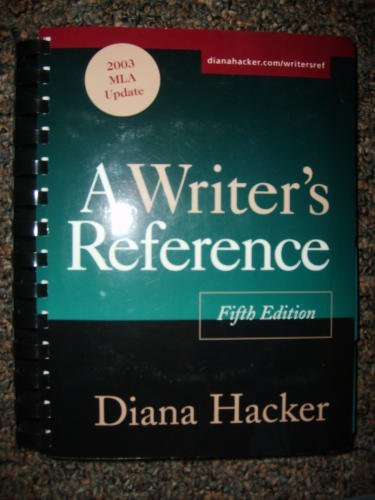 9780312413699 Writers Reference With 2003 MLA Update 5th Edition