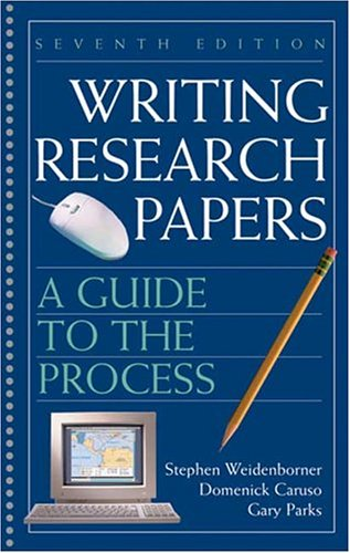 9780312414436: Writing Research Papers: A Guide to the Process (7th Edition)