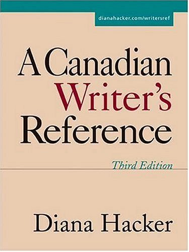 A Canadian Writer's Reference: Diana Hacker