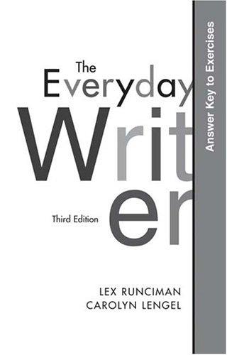 9780312419769: The Everyday Writer Answer Key to Exercises