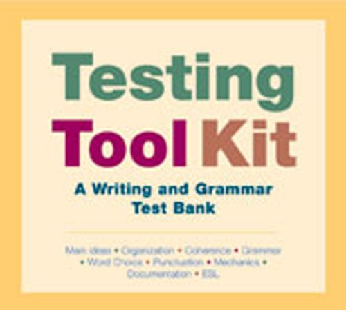 9780312430320: testing toolkit: a writing and grammar test bank (main ideas, organization, coherence, grammar, word choice, punctuation, mechanics, documentation, esl)