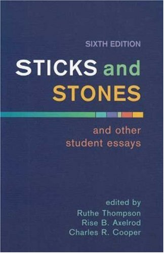 9780312431037: Sticks and Stones and Other Student Essays