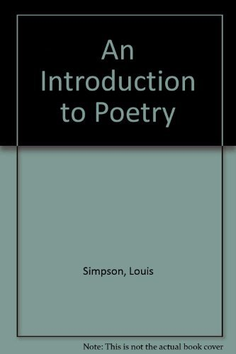 9780312431563: An Introduction to Poetry