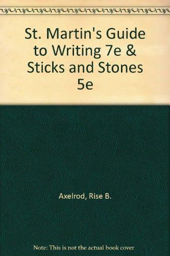 9780312432515: St. Martin's Guide to Writing 7e & Sticks and Stones 5e