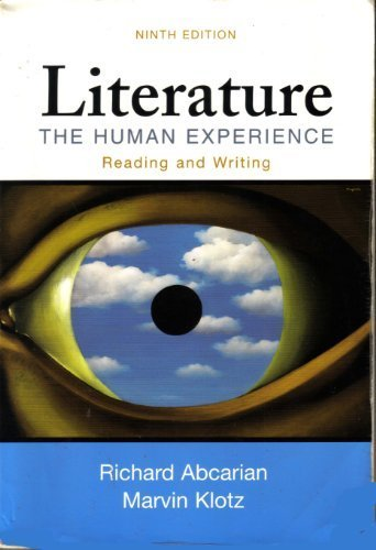 9780312436513: Literature: The Human Experience