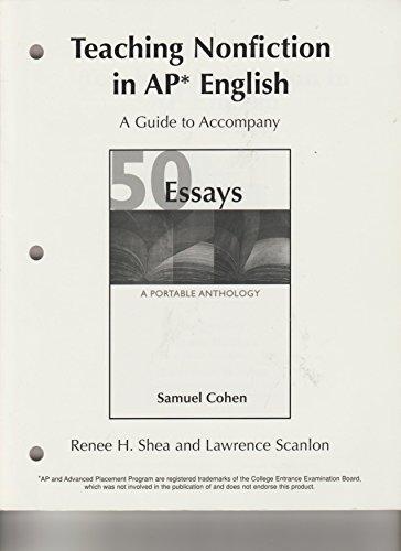 Teaching Nonfiction in AP English (A Guide: Shea, Renee H.;