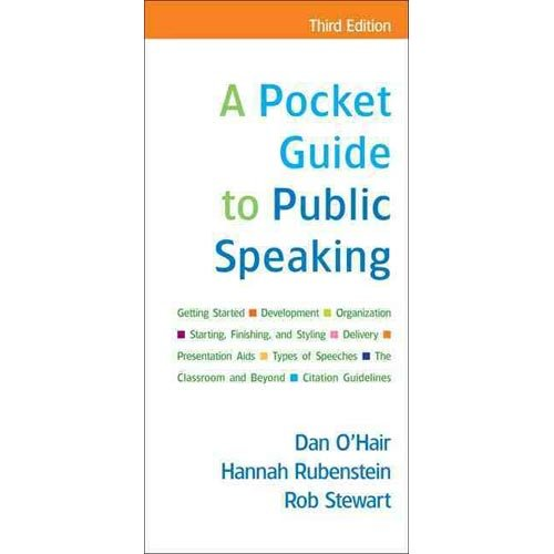 9780312436896: Pocket Guide to Public Speaking & Video Theatre 2.0