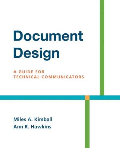 9780312436995: Document Design: A Guide for Technical Communicators