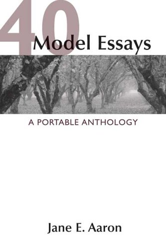 9780312438296: 40 Model Essays: A Portable Anthology