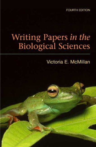 9780312440831: Writing Papers in the Biological Sciences