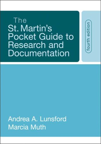 9780312442255: The St. Martin's Pocket Guide to Research and Documentation