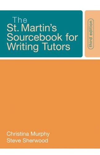 9780312442262: The St. Martin's Sourcebook for Writing Tutors