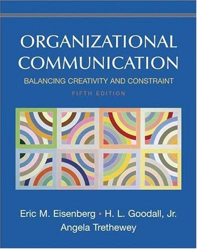 9780312442392: Organizational Communication: Balancing Creativity and Constraint