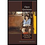 Open Questions Readings for Critical Thinking and Writing: Chris Anderson - Lex Runciman