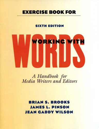 Exercise Book for Working With Words: Brian S. Brooks,