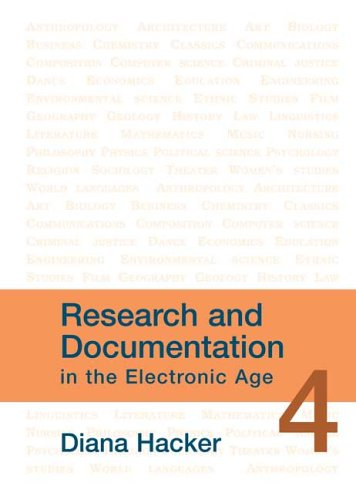 9780312443399: Research and Documentation in the Electronic Age