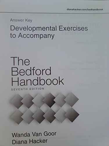 9780312443429: Answer Key / Developmental Exercises t/a The Bedford Handbook