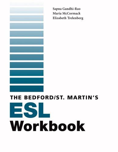 9780312445034: Bedford/St. Martin's ESL Workbook