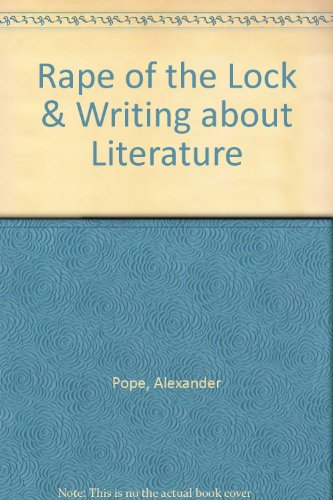Rape of the Lock & Writing about Literature (0312445156) by Pope, Alexander; Wall, Cynthia; Gardner, Janet E.