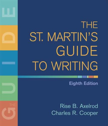 9780312446246: The St. Martin's Guide to Writing