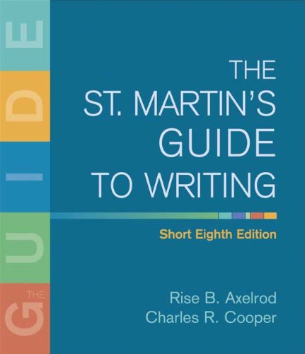 9780312446338: The St. Martin's Guide to Writing Short Edition
