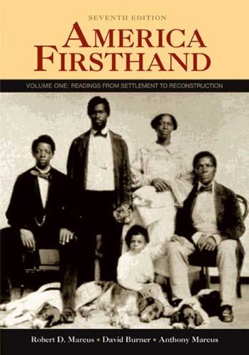 9780312446451: America Firsthand: Volume One: Readings from Settlement to Reconstruction
