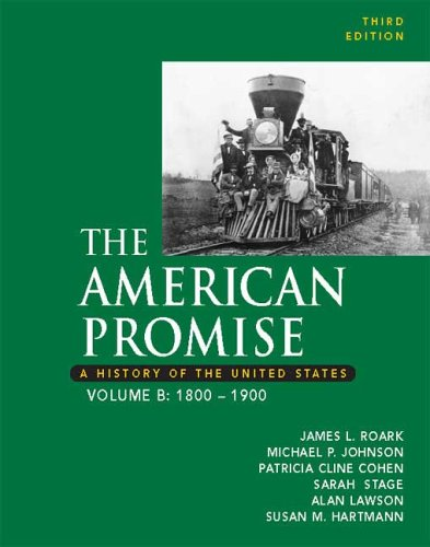 9780312449575: The American Promise: A History of the United States, Volume B: 1800-1900