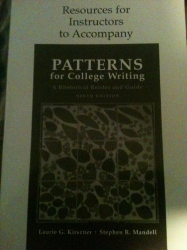 9780312451028: Resources for Instructors to Accompany Patterns for College Writing