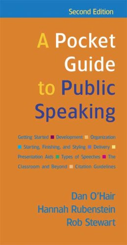 9780312452070: A Pocket Guide to Public Speaking
